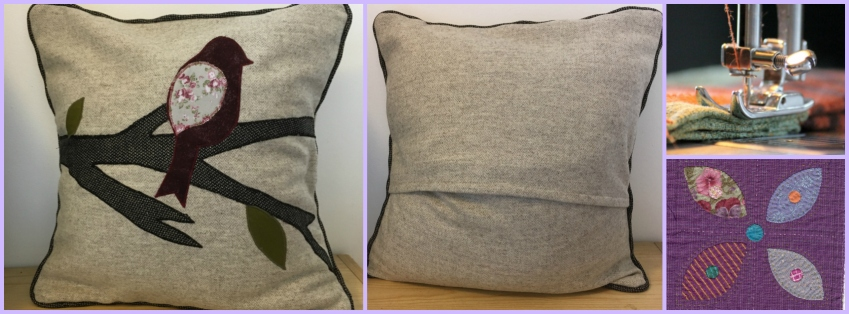 Appliqued Piped Cushion