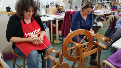 Spinning at a Crafternoon